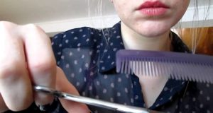 ASMR *Role play* *Hair cut* *Coiffeuse* with brush, massage, whisper