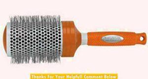 Brushlab Fresh Orange Ceramic Thermal Nylon Bristle Jumbo Hair Brush