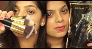 BS-Mall Kabuki Makeup Brush Set Review | Affordable brushes in India
