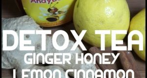 Detox Drink – Ginger Cinnamon Lemon Honey – Healthy Tea Hot or Cold