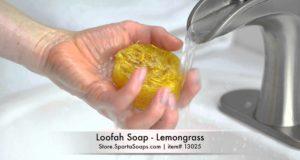 Loofah Soap – Lemongrass | Sparta Soaps™