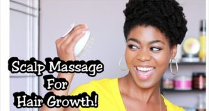 Massage For Hair Growth & Healthy Scalp! – Vitagoods Shampoo Brush Review + Demo – 4C Natural Hair