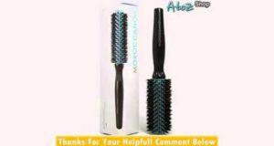 Moroccanoil 25mm Professional Ceramic Barrel Boar Bristle Round Brush for short Medium Length Hair