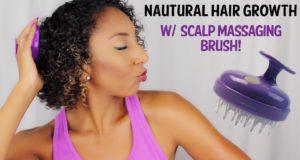 Natural Hair Growth w/Scalp Massaging Brush!| BiancaReneeToday