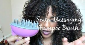 NATURAL HAIR| Scalp Massaging Shampoo Brush REVIEW & DEMO