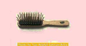 Widu Ash Wood Bristle Hair Brush XL Bamboo Bristles Rectangular